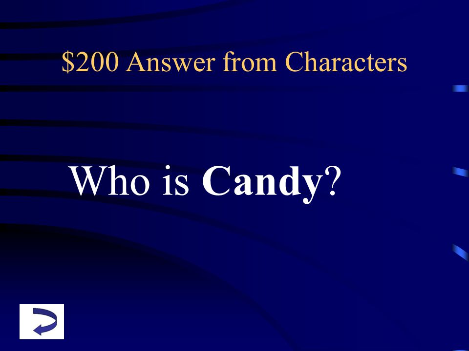 $200 Answer from Characters Who is Candy?