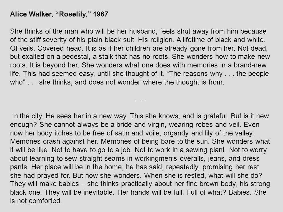 roselily alice walker