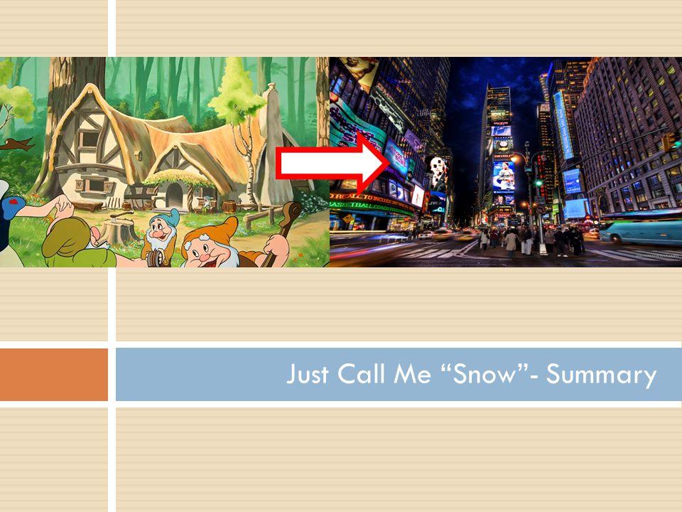 Just Call Me Snow - Summary