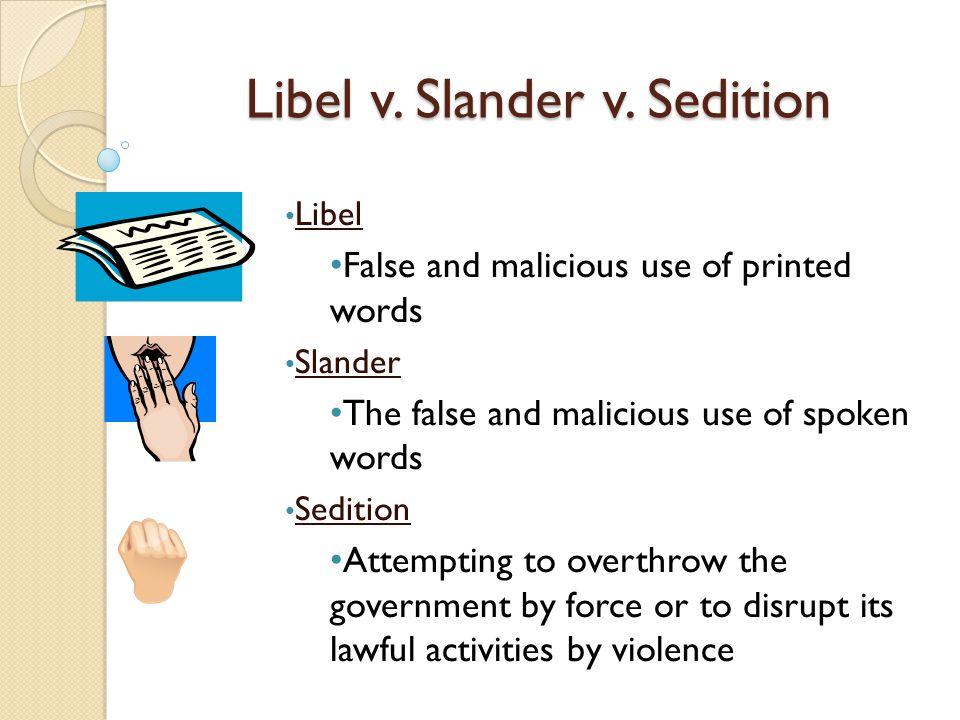 Libel v. Slander v.