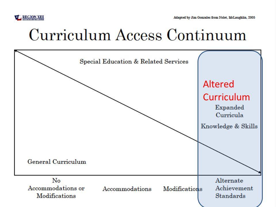 Altered Curriculum