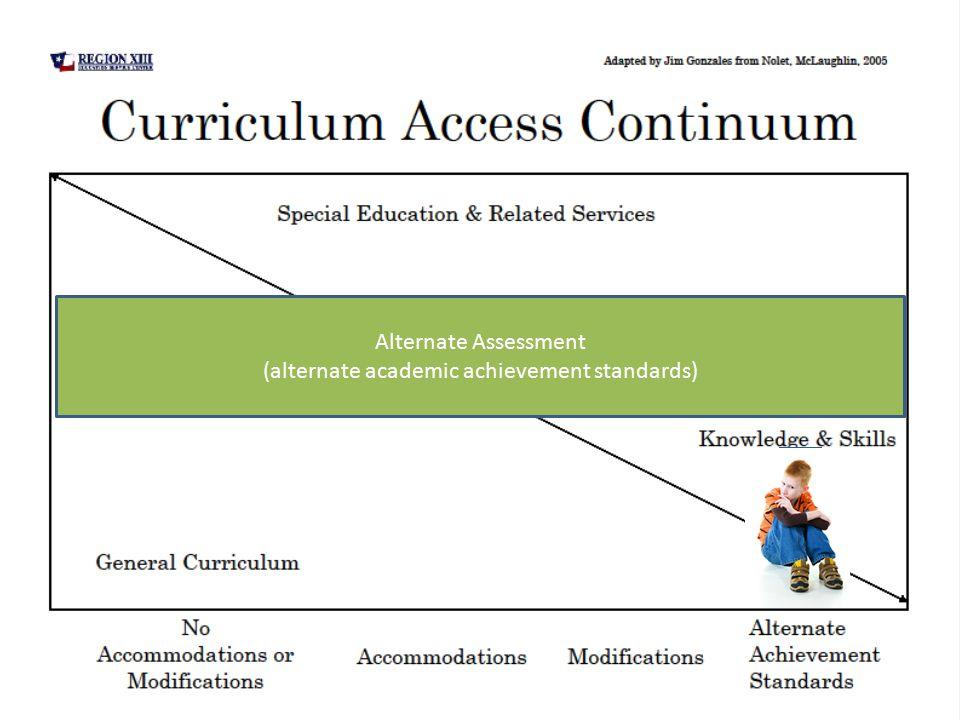 Alternate Assessment (alternate academic achievement standards)