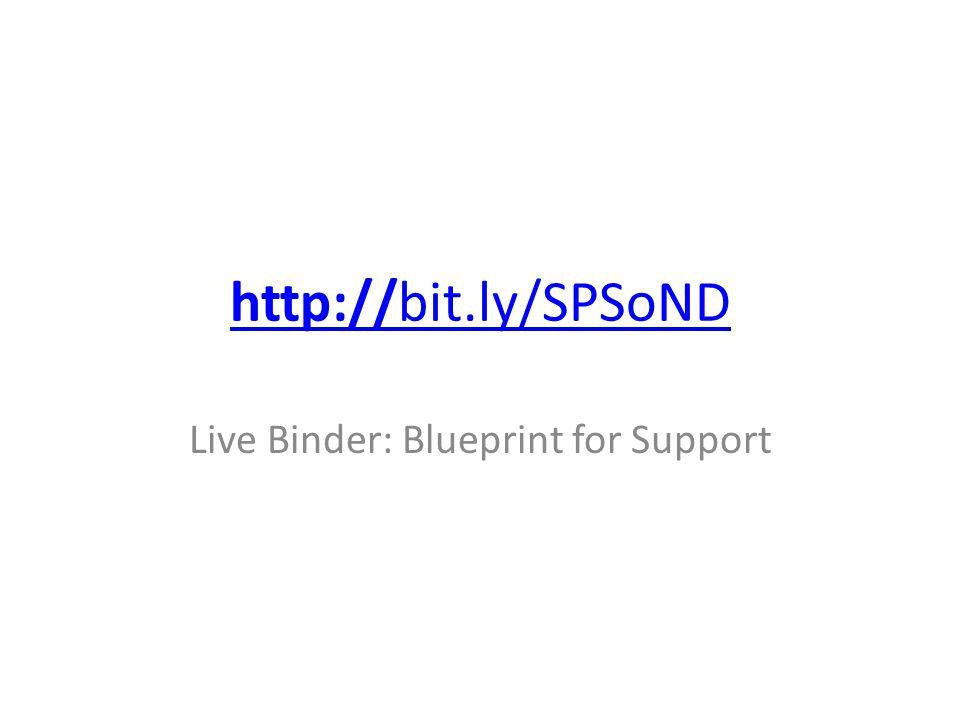 http://bit.ly/SPSoND Live Binder: Blueprint for Support