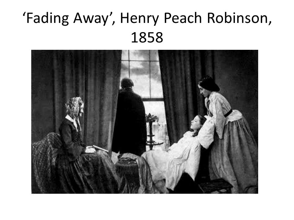 'Fading Away', Henry Peach Robinson, 1858