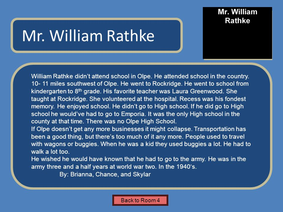 Name of Museum William Rathke didn't attend school in Olpe.
