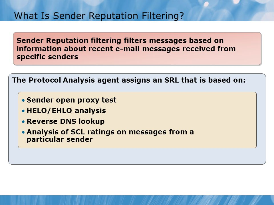 What Is Sender Reputation Filtering.