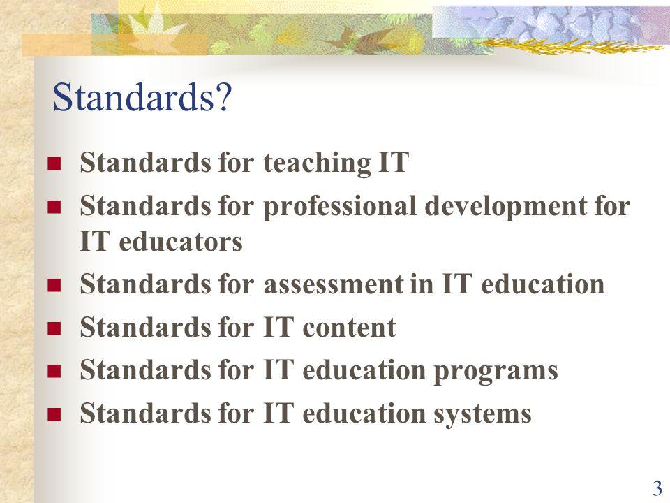 3 Standards.
