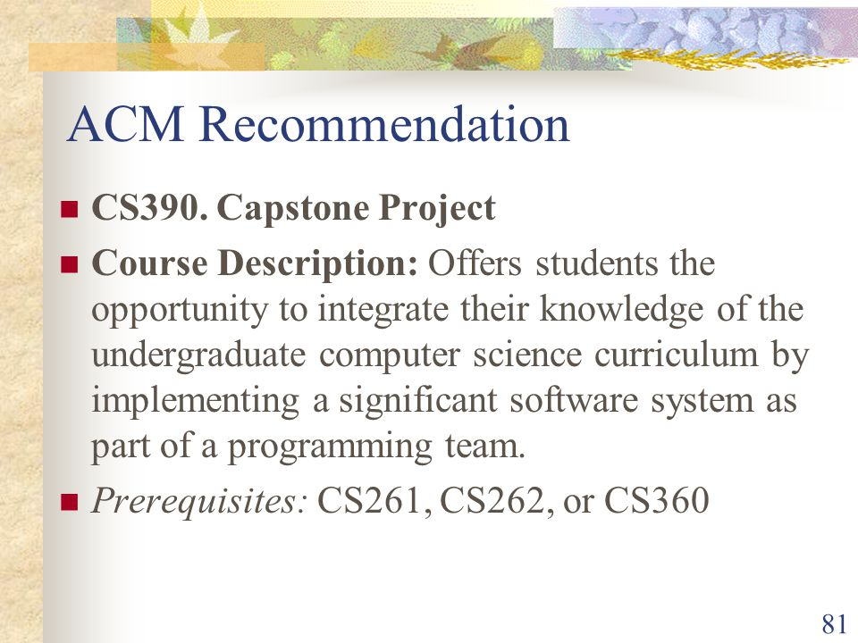 81 ACM Recommendation CS390.