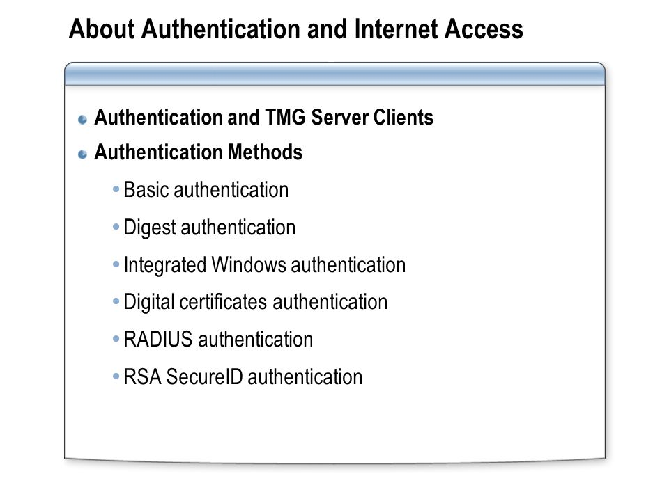 How to set Authentication.