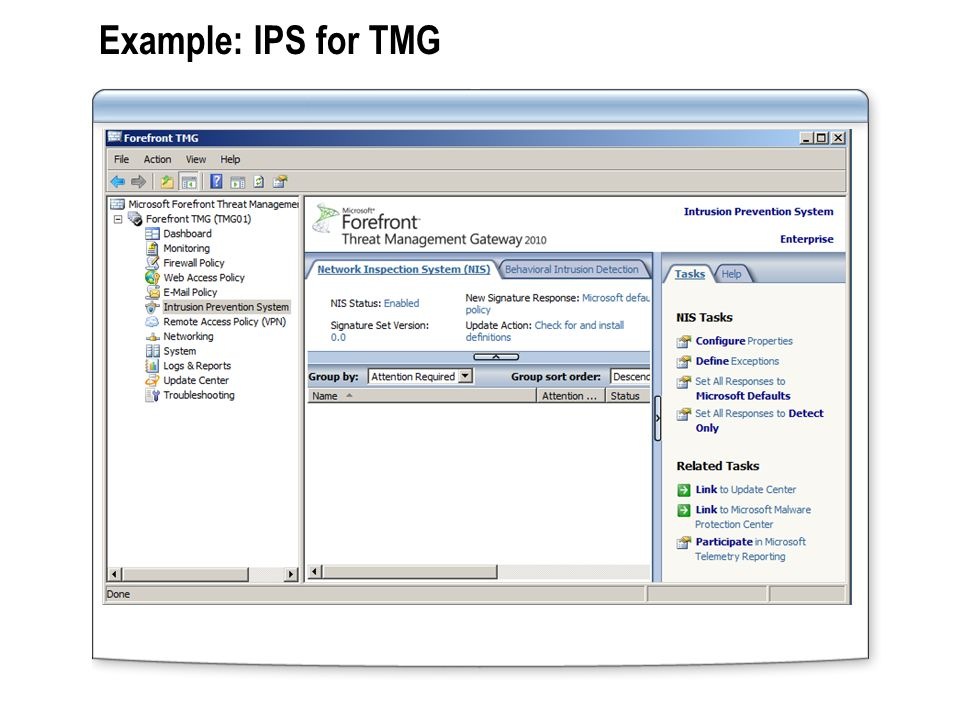 Example: IPS for TMG