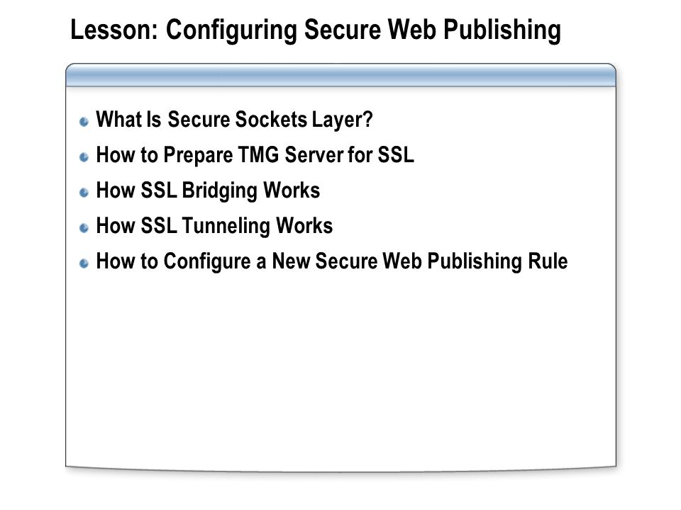 What Is Secure Sockets Layer.