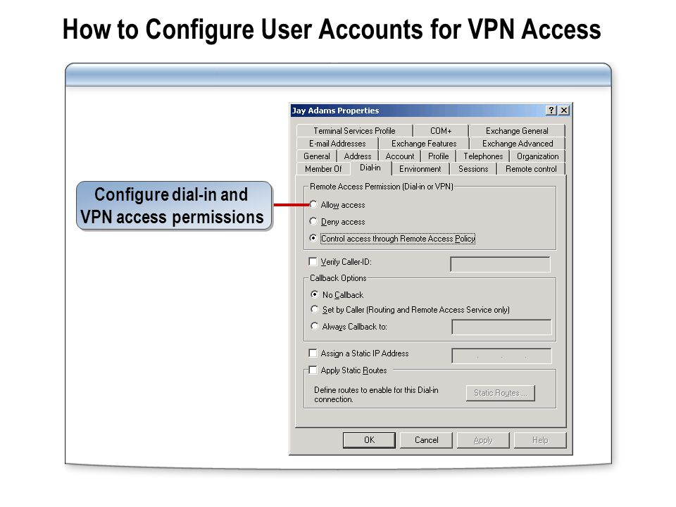 How to Configure VPN Connections from Client Computers