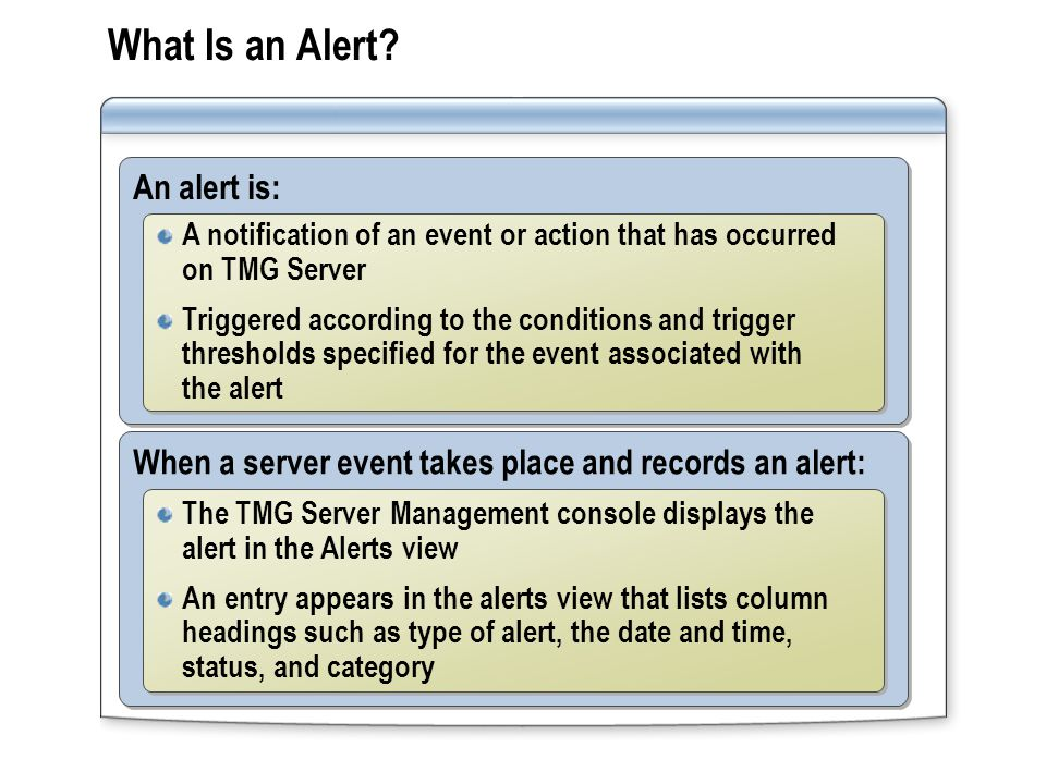 How to Configure Alert Definitions