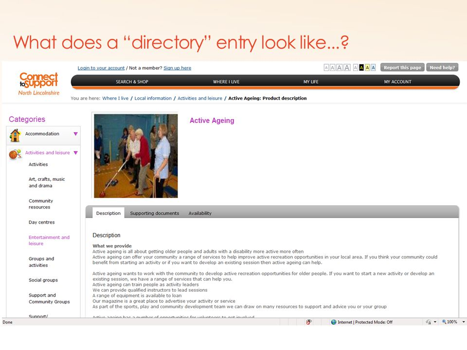 Copyright © shop4support What does a directory entry look like...