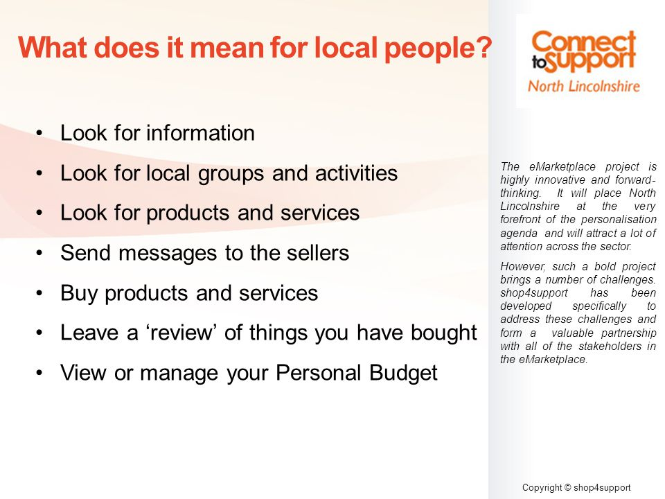 Copyright © shop4support What does it mean for local people.