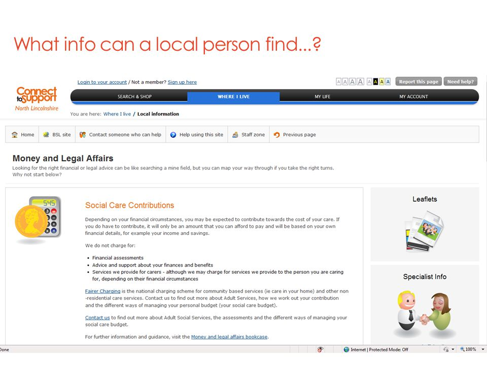 What info can a local person find...