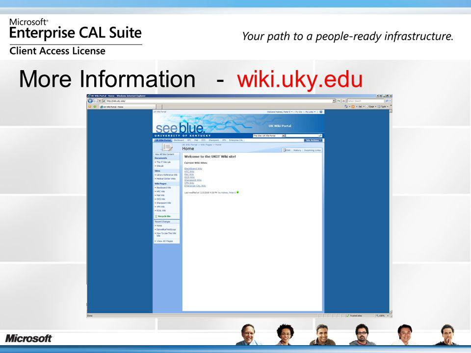 More Information - wiki.uky.edu