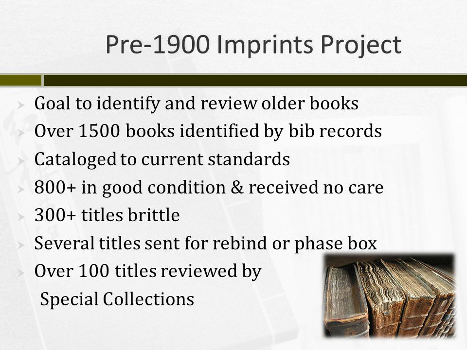 Preservation @ UCF Libraries  Questions. Contact us: Michael A.