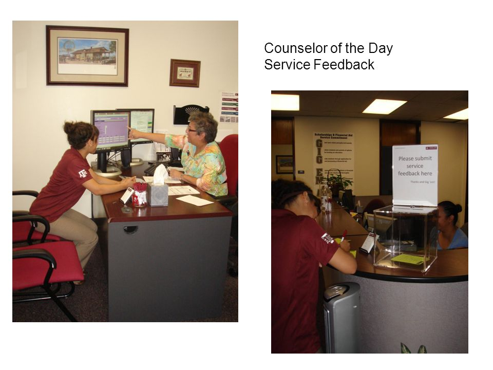 Counselor of the Day Service Feedback