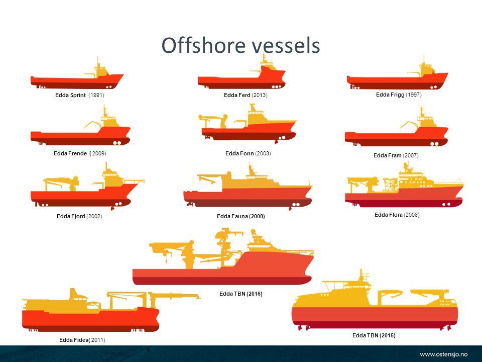 Offshore vessels Edda Flora (2008) Edda Sprint (1991) Edda Frigg (1997) Edda Ferd (2013) Edda Fjord (2002) Edda Fonn (2003) Edda Fram (2007) Edda Frende ( 2009) Edda Fides( 2011) Edda Fauna (2008) Edda TBN (2015) Edda TBN (2016)