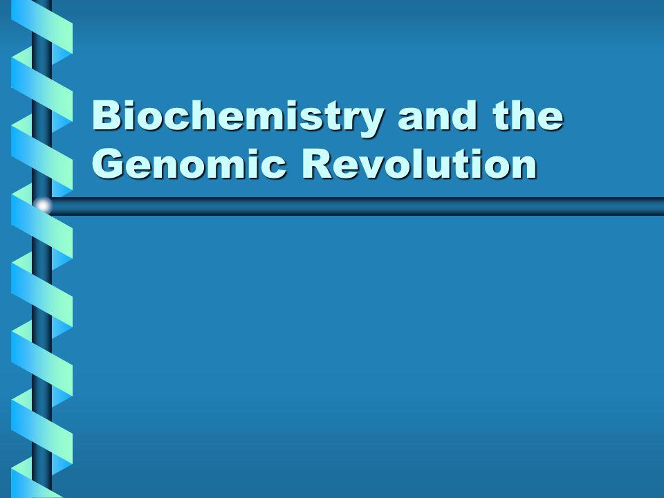 Biochemistry and the Genomic Revolution