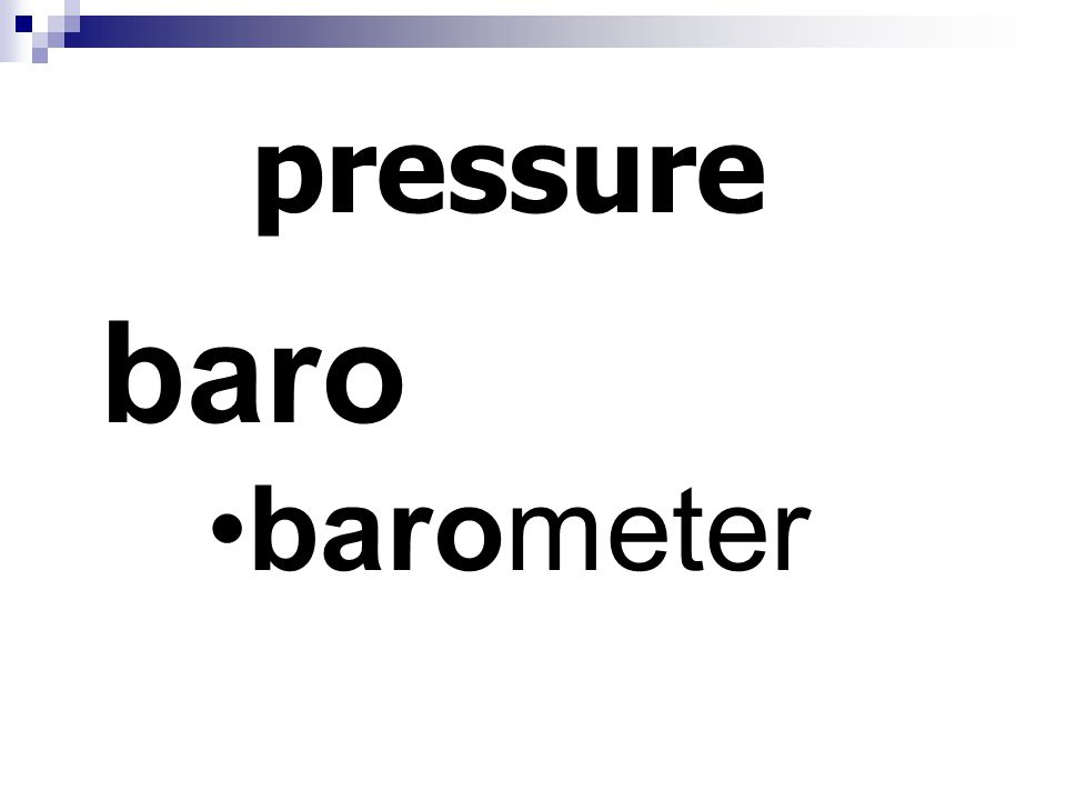 pressure baro barometer