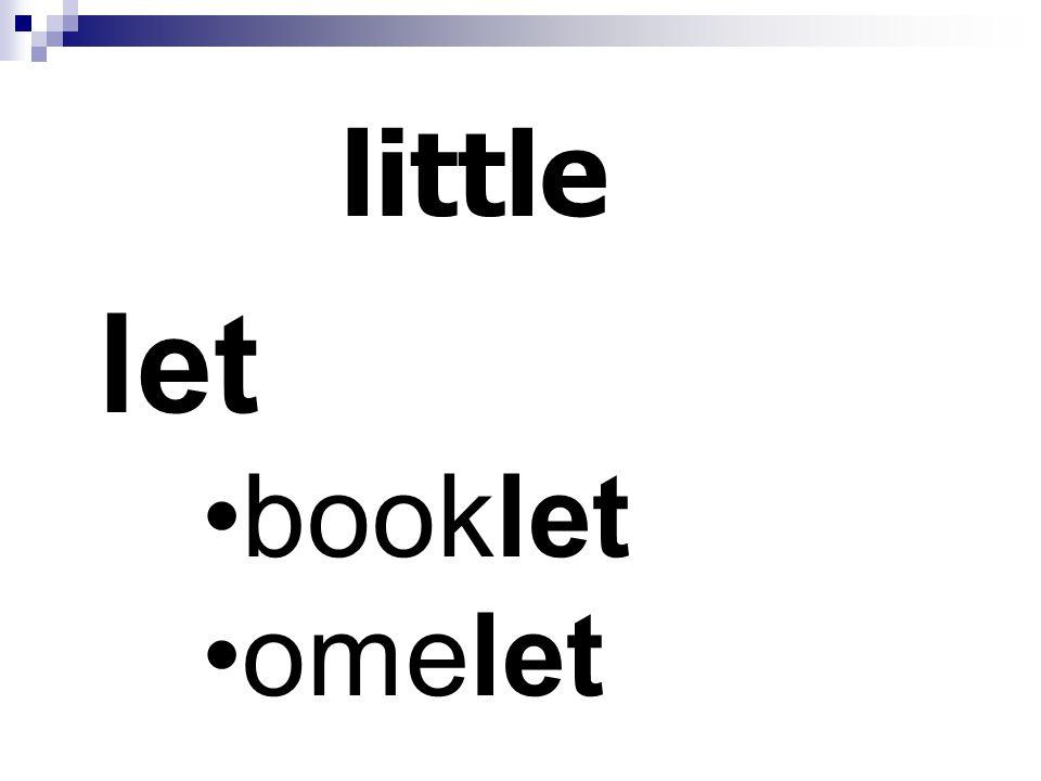 little let booklet omelet