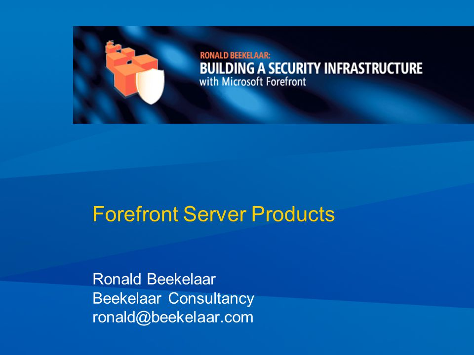 2 Introductions Presenter – Ronald Beekelaar MVP Windows Security MVP Virtual Machine Technology E-mail: ronald@beekelaar.com Work Beekelaar Consultancy Security consultancy Forefront, IPSec, PKI Virtualization consultancy Create many VM-based labs and demos