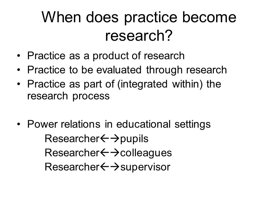 When does practice become research.