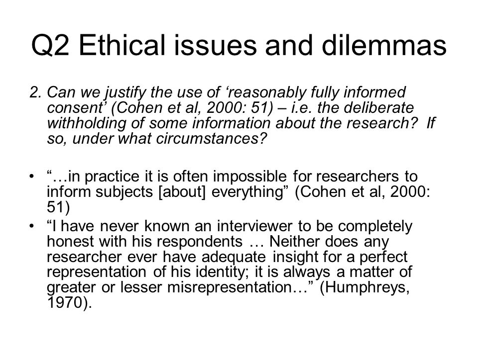 Q2 Ethical issues and dilemmas 2.