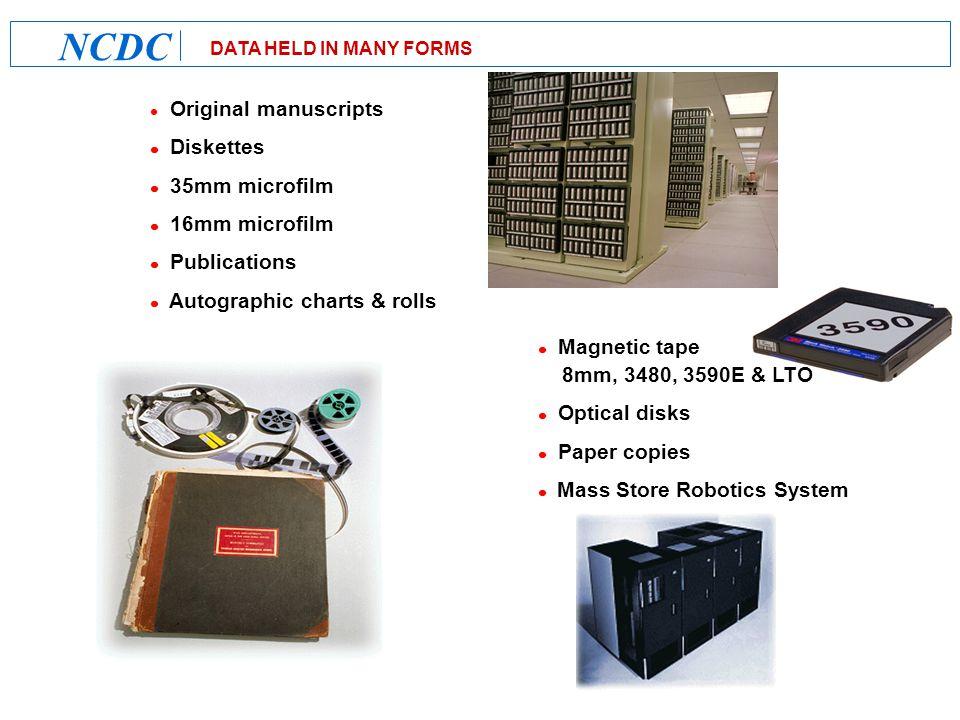 NCDC New Homepage http://www.ncdc.noaa.gov