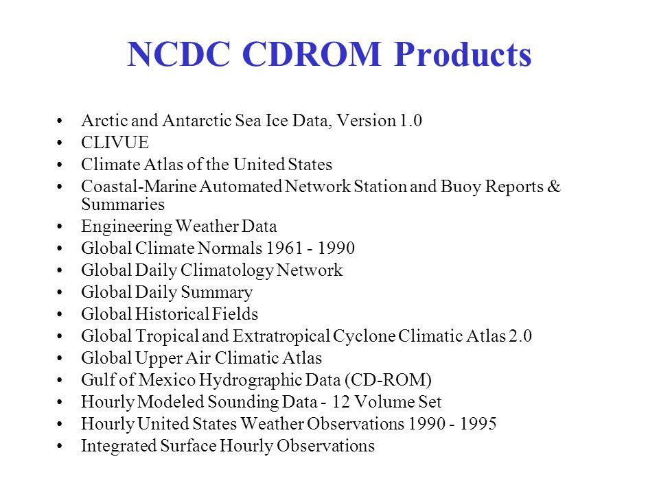 NCDC CDROM's Continued International Ocean Atlas Vol.
