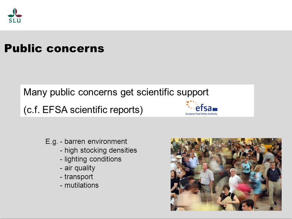 1.Assess animal welfare Components in safeguarding and improving welfare
