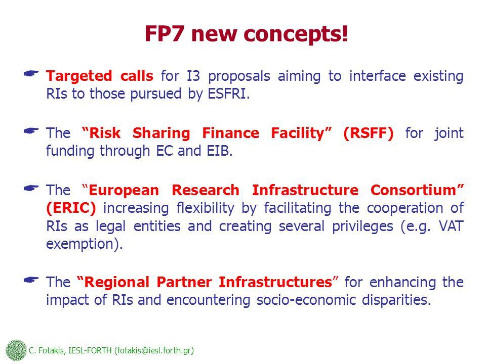 C. Fotakis, IESL-FORTH (fotakis@iesl.forth.gr) FP7 new concepts.