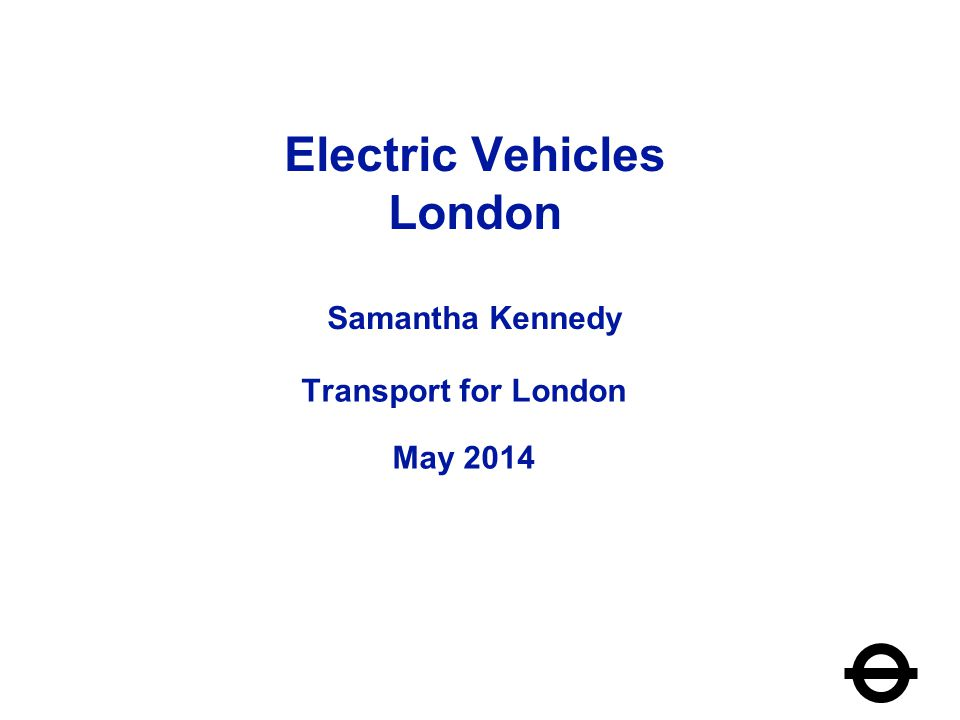 Why EVs in London.