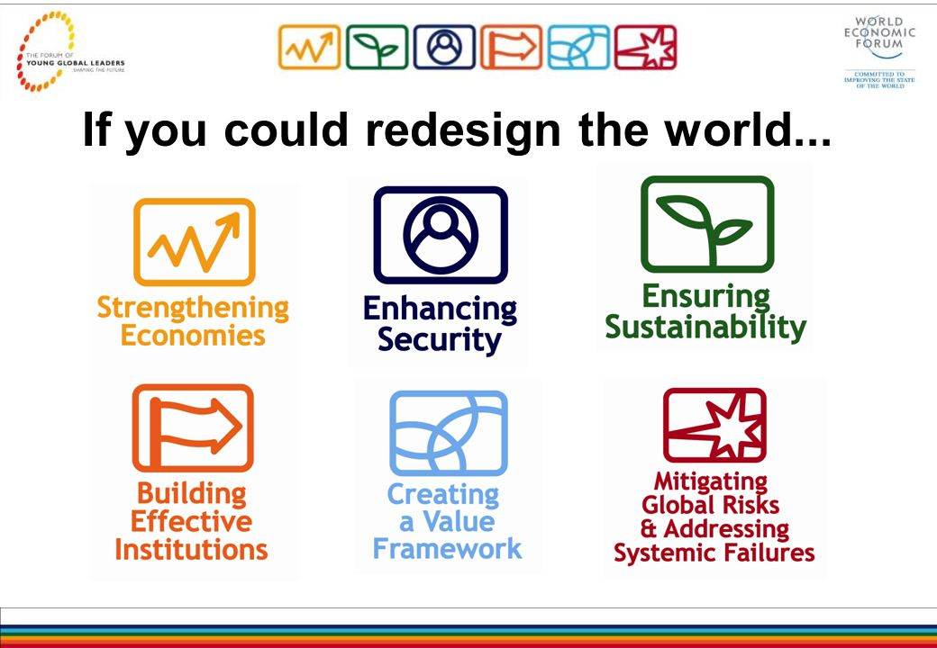 If you could redesign the world...