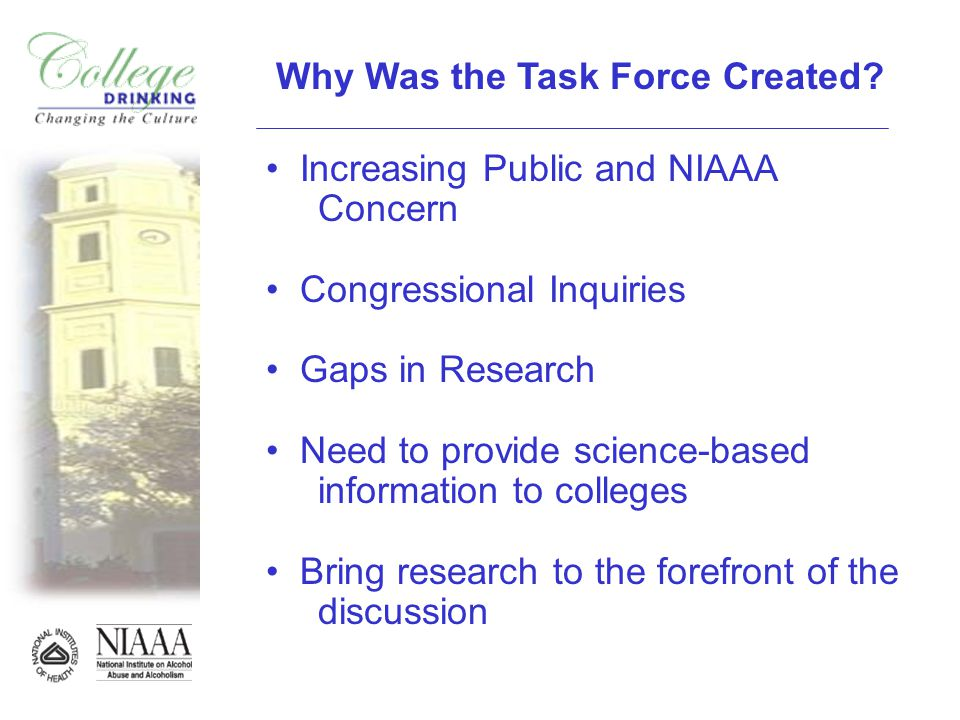 Why Was the Task Force Created.