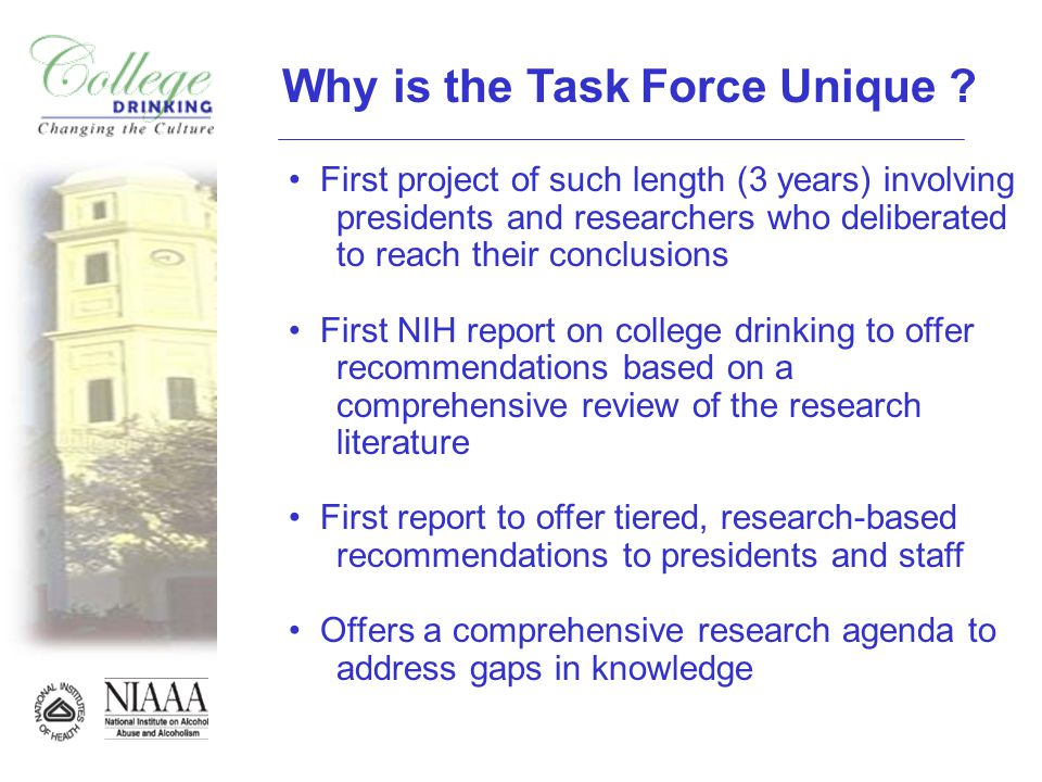 Why is the Task Force Unique .