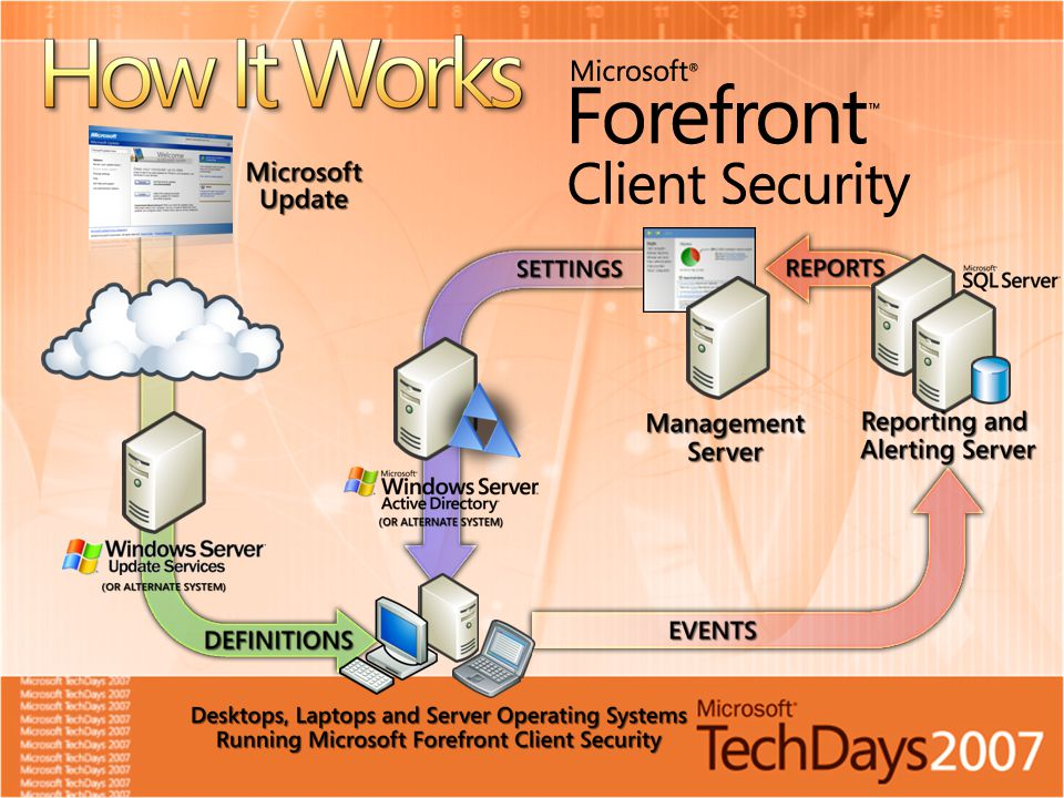One engine for virus and spyware protection Used in Windows ® Defender, OneCare, Forefront Server Security, etc.