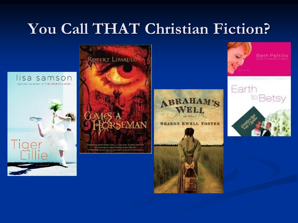 You Call THAT Christian Fiction