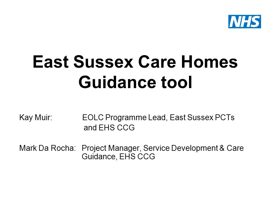 Background Past 2 years various guidance tools have been presented to the members of the Older People Residential and Nursing Care Home Forum in the form of: Key focus on high quality care and admission avoidance with resident care (family members) at the forefront EOLC pathway and tools e.g.