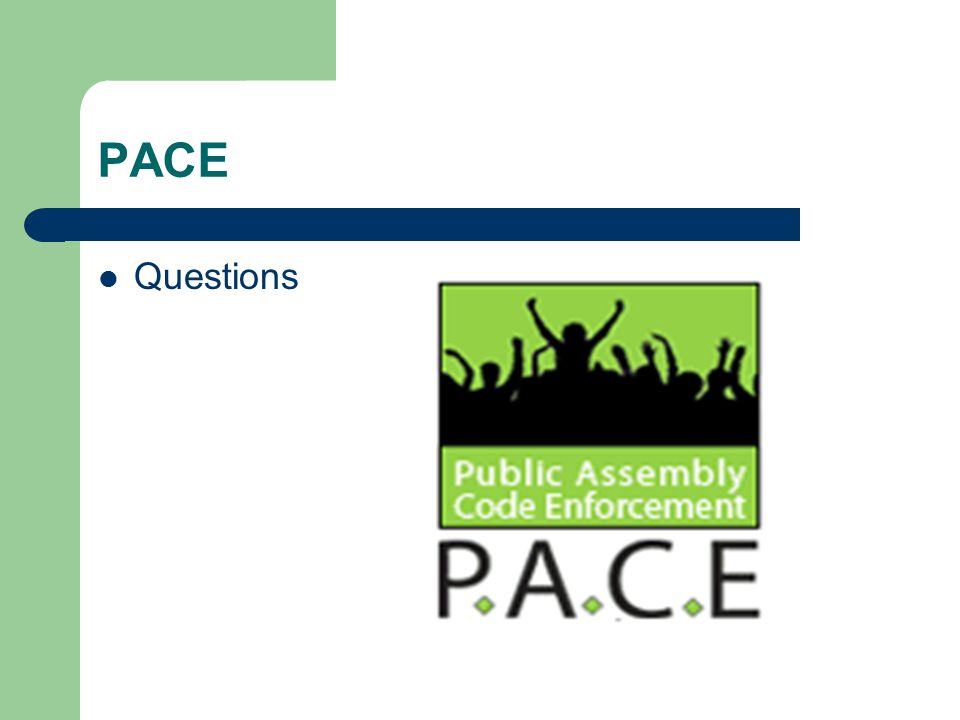 PACE Questions