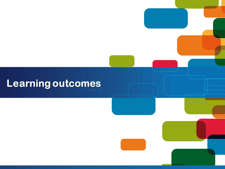 Learning outcomes categorisations Learning outcomes based on a theoretical or research formulation Learning outcomes based on negotiation between stakeholders Learning outcomes borrowed/adapted from elsewhere