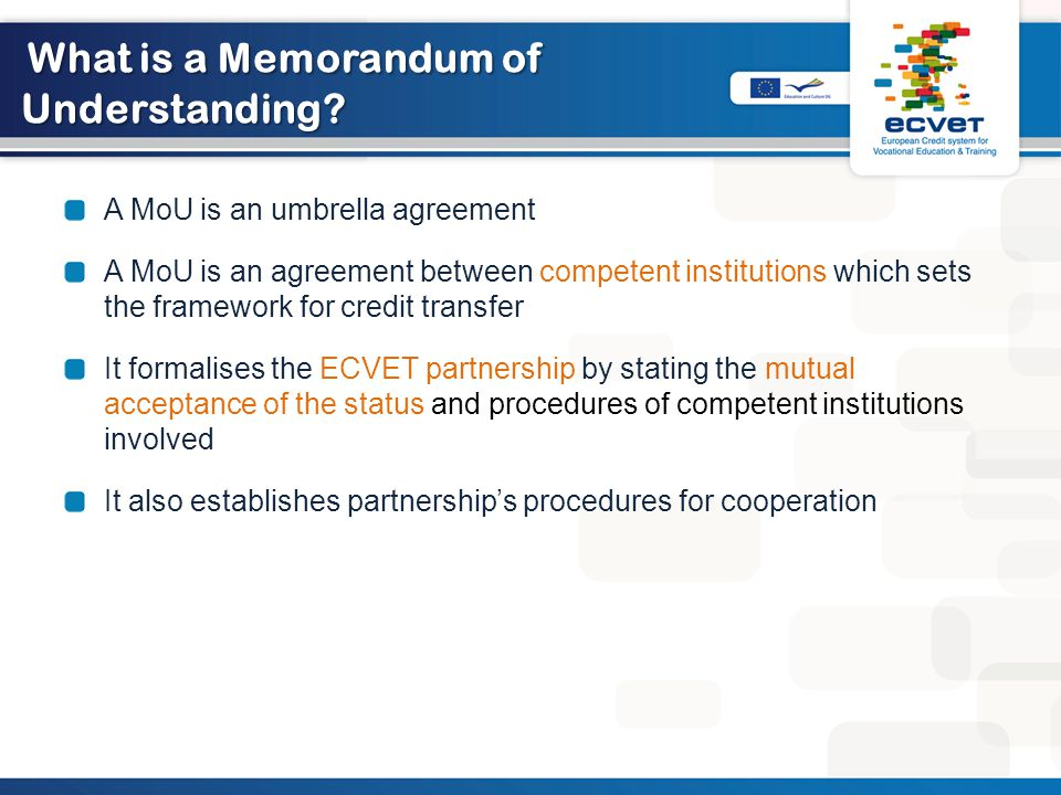 What is a Memorandum of Understanding.