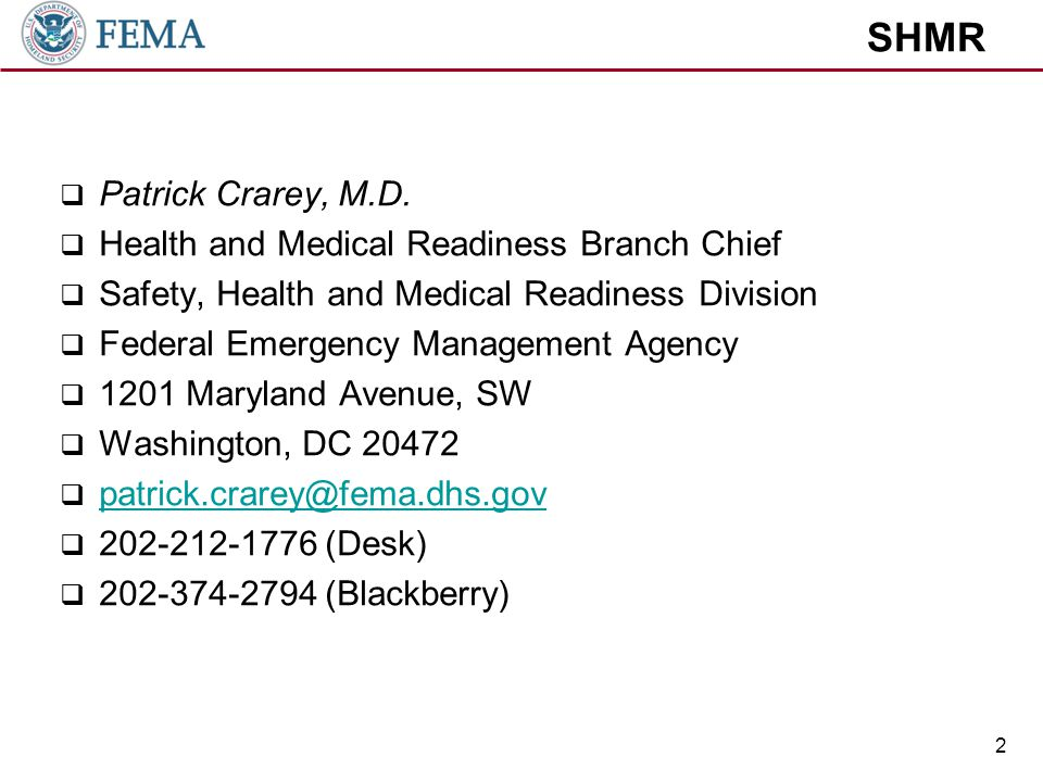 SHMR 1.We are the Branch of SHMR that is responsible for the Health and wellness of our workforce.