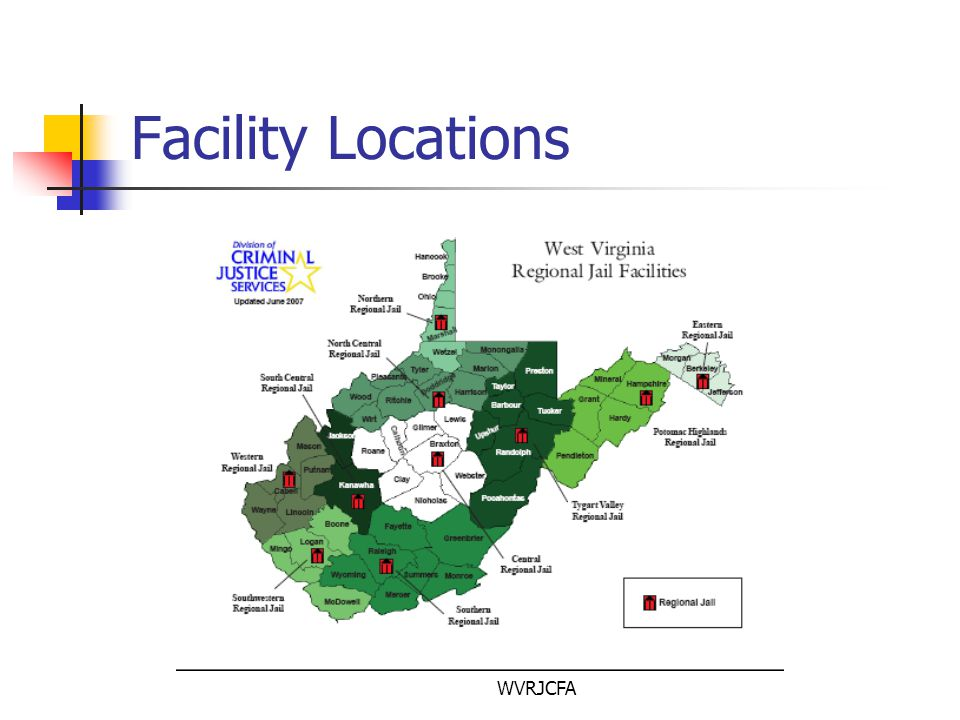 WVRJCFA Physical Plant Contact and non-contact visitation areas are available All visits must be scheduled