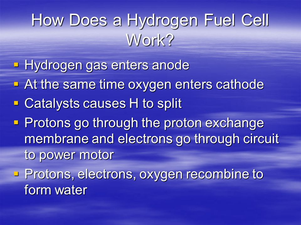 How Does a Hydrogen Fuel Cell Work.