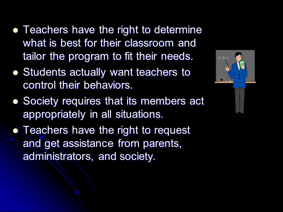 RESPONSE STYLES The Canters believe that a teacher's response style sets the tone of his or her classroom.