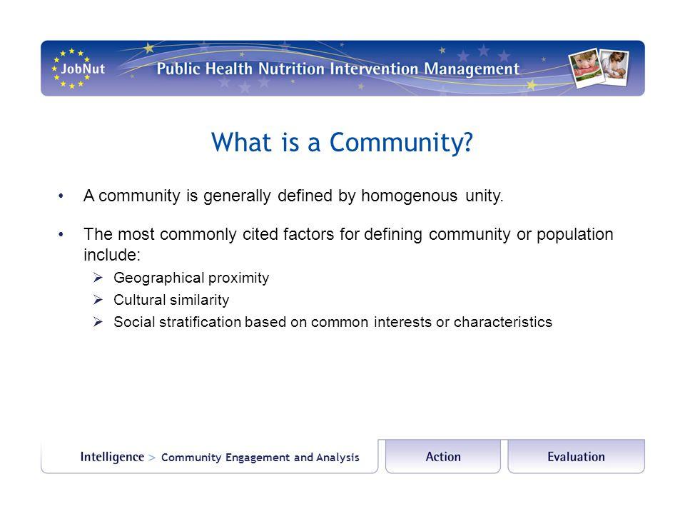Why Community Engagement.