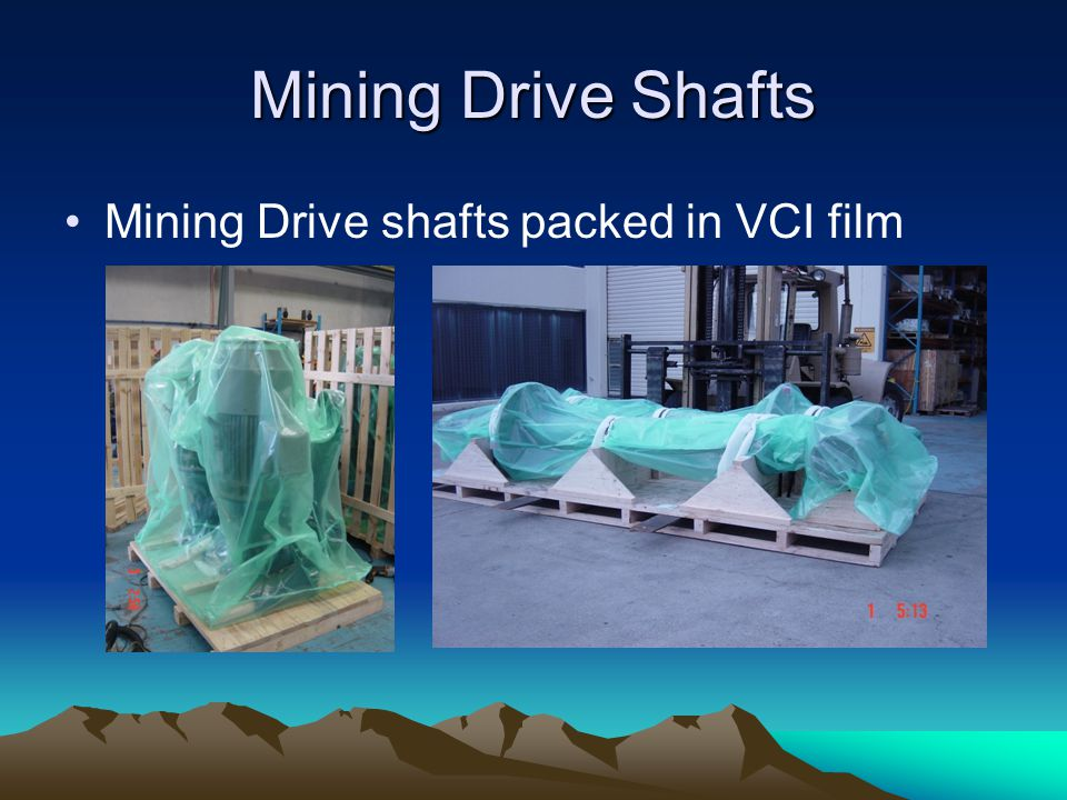 Mining Drive Shafts Mining Drive shafts packed in VCI film